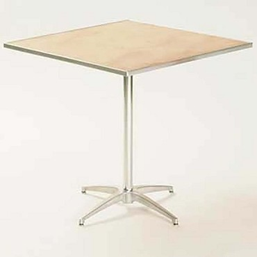 "Maywood MP30SQPED3042 - Pedestal Table, 30"" square top, plywood top, adjustable"