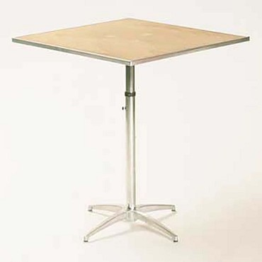 "Maywood MP24SQPEDADJ - Pedestal Table, 24"" square top, plywood top, adjustable"