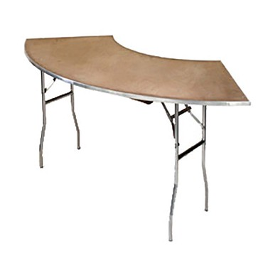 Maywood MP9030CR6 - Folding Table, crescent, plywood top, 90 x 30 x 30 inch