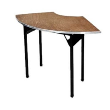Maywood DPORIG9636CR6 - Folding Table, crescent, plywood top, 96 x 36 x 30 inch