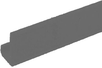 "Metro CSM6-GRX - Color Shelf Marker, 6"" x 1-1/2"", snaps over edge, gray"
