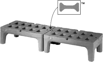 "Metro HP2230PD - Bow-Tie Dunnage Rack, 22"" x 30"" x 12"" H, slotted, with sep"