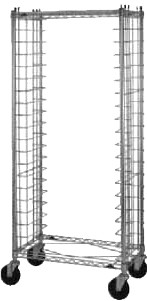 "Metro RS3 - Wire Bun Pan Rack, mobile, side load, 19-1/2"" X 30"" L, 69"" H, pa"