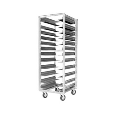 "Metro RD78N - Pan Rack, mobile, 69 1/2"" full height, open sides, universal sli"