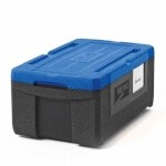Metro ML180-BU - Mightylite Food Carrier, top-load, insulated, (3) pan capacity, polypropylene, black/blue