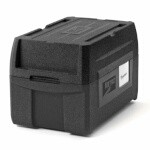 Metro ML180XL-BL - Mightylite Food Carrier, top-load, insulated, (5) pan capacity, polypropylene, black