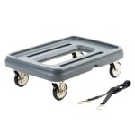 Metro MLD1 - Mightylite Food Carrier Dolly, capacity 350 lbs., polyethylene, gray, for Mightylite carriers