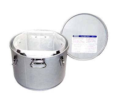 Miroil 40L - Low Profile Filter Pot, for safer filtering and handling of hot