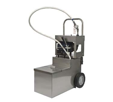 Miroil MOD0640 - Oil Filter Machine/Discard Trolley for Fryers with Drain Valves