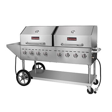 "Sierra SRBQ-60 - Stainless Steel Outdoor Gas Grill, 60"", 8 Burners"