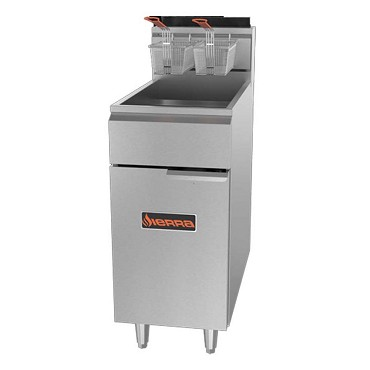"Sierra SRF-40/50-NG - Fryer, natural gas, 16""W, 45-50 lbs. capacity"