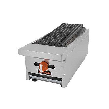 "Sierra SRRB-12 - Charbroiler, natural gas, countertop, 12""W, (2) steel fluted burners"
