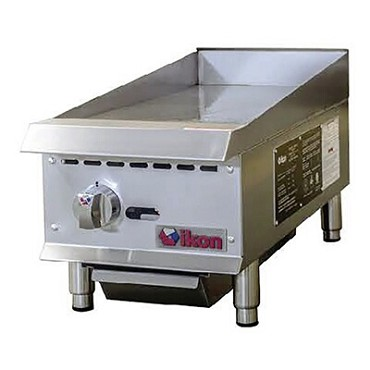 "IKON IMG-12 - Griddle, gas, countertop, 12""W x 34.4""D, (1) burners, 3/4"" plate"