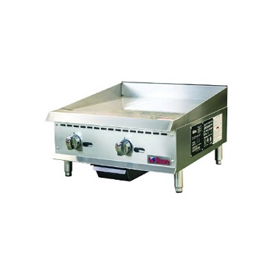 "IKON IMG-24 - Griddle, gas, countertop, 24""W x 34.4""D, (2) burners, 3/4"" plate"