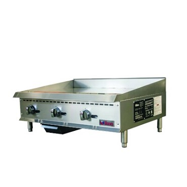 "IKON ITG-36 - Griddle, gas, countertop, 36""W x 34.4""D, (3) burners, 1"" thick plate"