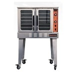 Sierra SRCO-E - Convection Oven, electric, single-deck, standard depth, electronic timer, 2-speed fan, independent doors with windows