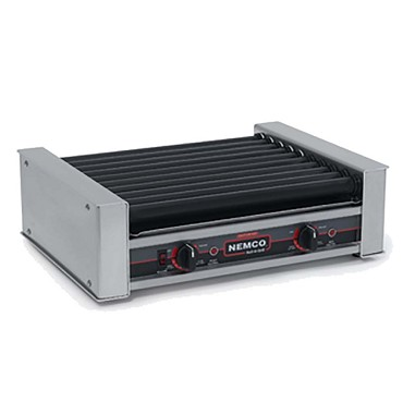 Nemco 8018SX - Hot Dog Grill, 10 GripsIt coated rollers