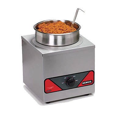 Nemco 6110A-ICL - Countertop Warmer, 4 qt., single well, inset, cover and ladle