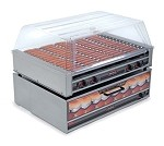 Nemco 8075SX - Hot Dog Grill, 16 GripsIt coated rollers
