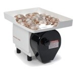 Nemco 55925-230 - Power Shrimp Cutter & Deveiner, includes feeder