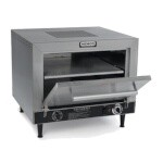 Nemco 6205-240 - Pizza Oven, electric, countertop, 2-deck, brushed s/s front, top
