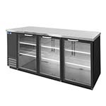 Nor-Lake NLBB79-G - Back Bar Refrigerator, 3-Section, 27.9 Cubic Feet