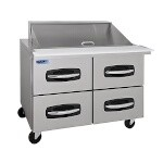 Nor-Lake NLSMP48-18A-001B - Mega Top Prep Table, two section, 48