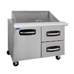 Nor-Lake NLSMP48-18A-002B - Mega Top Prep Table, two section, 48