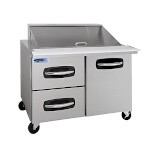 Nor-Lake NLSMP48-18A-003B - Mega Top Prep Table, two section, 48