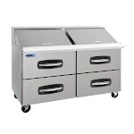 Nor-Lake NLSMP60-24A-001B - Mega Top Prep Table, two section, 60