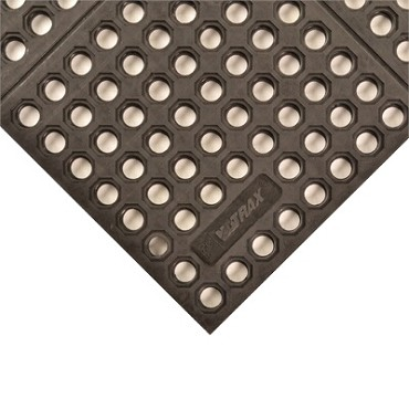 "Notrax T56S0035BL - Heavy-Duty Anti-Fatigue Mat System, 3' x 5', 3/4"" thick, rubber, black"