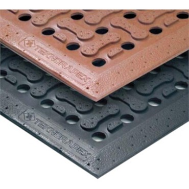 "Notrax T18S0046BL - Reversible Grease Resistant Floor Mat, 4' x 6', 5/8"" thick, rubber, black"
