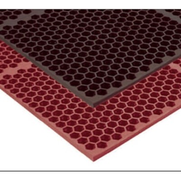 "Notrax T15S0034RD - Grease-Proof Floor Mat, 36"" x 48"", 1/2"" thick, rubber, red"