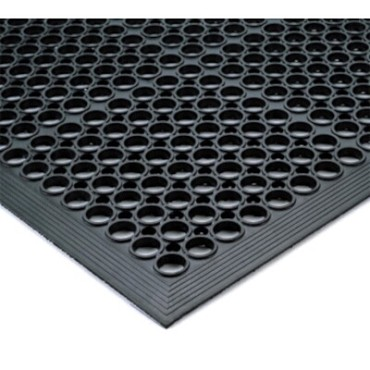 "Notrax T14S0035BL - General Purpose Floor Mat, 3' x 5', 1/2"" thick, rubber, black"