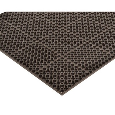 "Notrax T12S3958BL - Grease-Resistant Floor Mat, 39"" x 58-1/2"", 7/8"" thick, rubber, black"