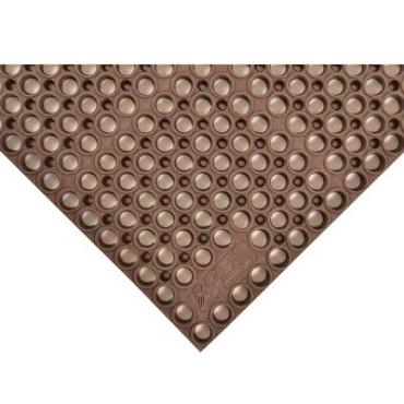 "Notrax T12S3958BR - Grease-Resistant Floor Mat, 39"" x 58-1/2"", 7/8"" thick, rubber, brown"