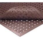 Notrax T18S0035RD - Reversible Grease Proof Floor Mat, 3' x 5', 5/8