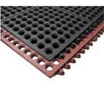 Notrax T32S0033BL - Light Weight Anti-Fatigue Mat System, 3' x 3', 1/2
