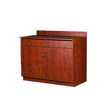 "Oak Street M8220-CHERRY-UNASSEMBLED - Waitress Station, cherry, 48""w x 43.5""h x 24.25""d. 1"" thick. Thi"
