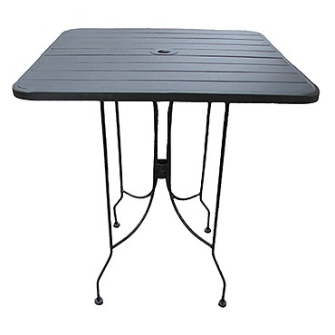 Boardwalk Table Outdoor Round Dia Standard Height Rolled - 30 inch round outdoor table