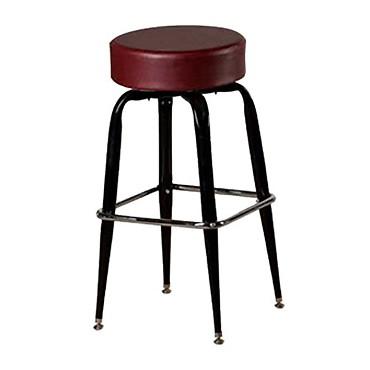 oak street sl2135 wine swivel bar stool backless upholstered