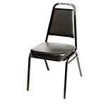 Oak Street SL2082-BLK - Stacking Chair w/Vinyl Seat & Back