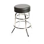 Oak Street SL2129-BLK - Black Vinyl Bar Stool w/Chrome Frame