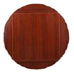 Oak Street MB4242FLIP60-M - Square To Round Black Table Top, 42 x 42 in./60 in. dia.