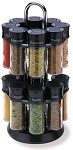 Olde Thompson 25-600B - Spice Rack, Carousel, 16 3oz. jars each filled with a different