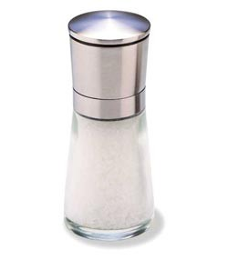 Olde Thompson 3823-00-0-0 - Salt Mill, Bavaria, Glass W/Brushed Stainless Steel Top