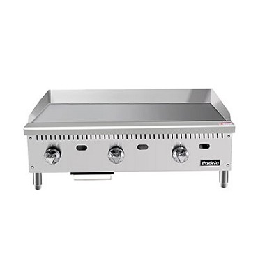 "Padela PCMG-36 - Heavy Duty Griddle, natural gas, countertop, 36.0""W, (3) stainless steel burners"
