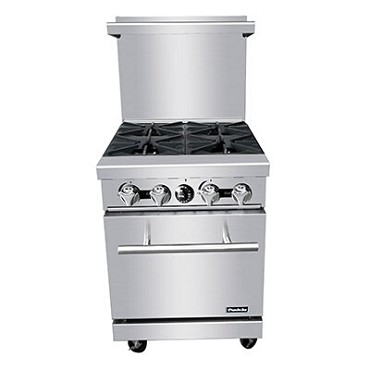 "Padela PCO-4B - Range, natural gas, 24""W, (4) burners, (1) 20""W oven"