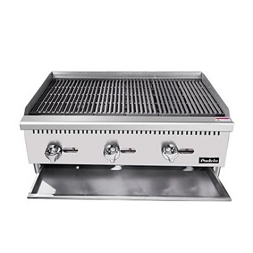 "Padela PCRB-48 - Heavy Duty Radiant Charbroiler, natural gas, countertop, 48"", (4)burners"