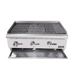 Padela PCCB-36 - Charbroiler, natural gas, countertop, 36.0
